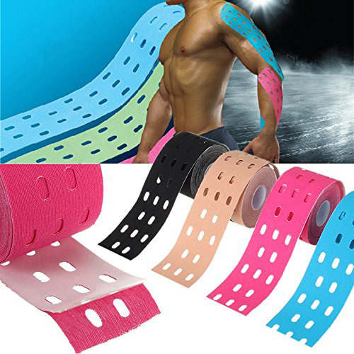 One Roll 5m * 5cm Kinesiologi Muskler Sportvård Elastisk Physio Therapeutic Tape