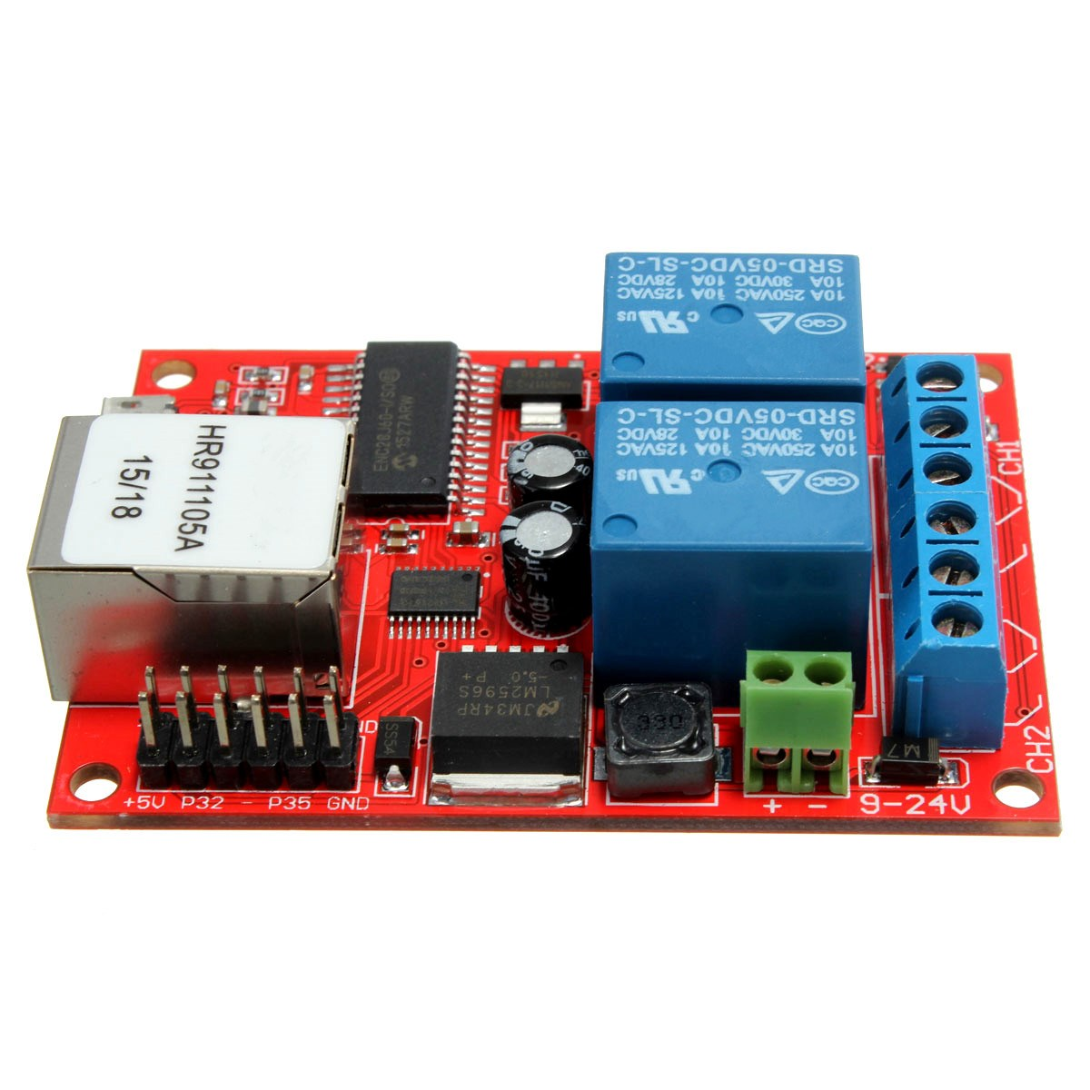 New Arrival Electronic Kit Circuit Board Lan Ethernet 2 Way Relay Simple Printed Products Delay Switch Tcp Udp Controller Module Web Server In Lcd Modules From