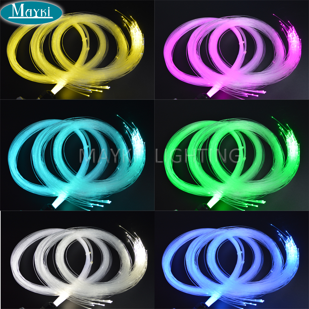 Mayki 1.0mm Diameter Pmma End Glow Fiber Optic Cable 1500m Less Than <0.25db/m For Baby Children Room