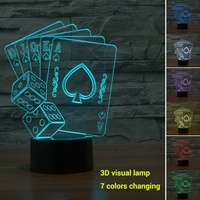 Creative Simple Visual Lamp Night Light Acrylic ABS LED Micro USB Home Decor 3D Christmas Gifts