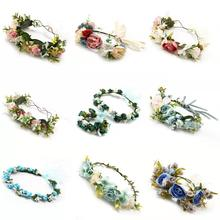 Bright Moon Sweet Flowers Crown Bridal Garland Wedding Adjustable Hair Decoration Beach For Women