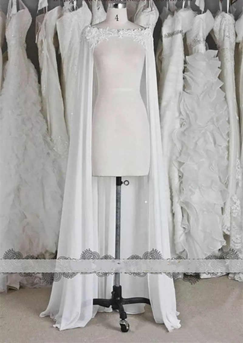 Jaqueta de casamento feminina, jaqueta de noiva branca marfim, apliques de capa para mulheres