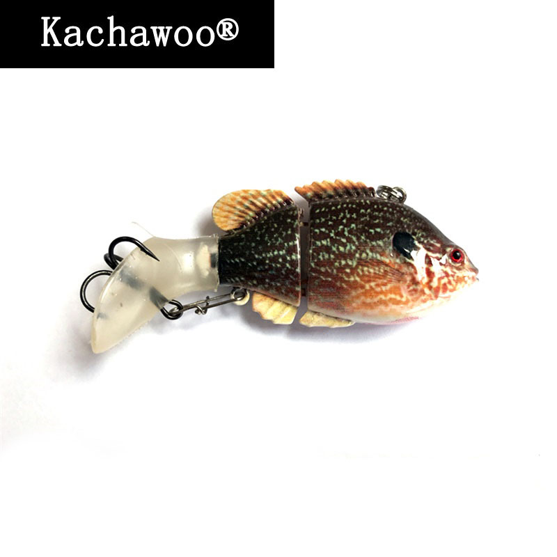 2 Pieces Fishing Lures Multi Jointed Swimbait Small Hard Artificial Bait Lure Life-like Bluegill Sunfish Bass Killer 3 Inch 13g wldslure 1pc 54g minnow sea fishing crankbait bass hard bait tuna lures wobbler trolling lure treble hook