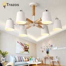 Lamparas シンプルなデザインシェード照明器具ダイニングルームの照明シーリングランプ ファッションカラフルなモダンな木製天井ライト