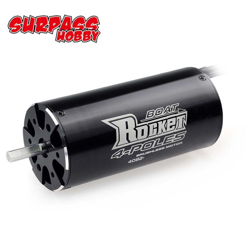 SURPASSHOBBY Rocket 4082 1900KV 1600KV 4P Brushless Motor for Traxxas M41 Catamaran Spartan 1000mm(or Above) RC Boat Car-in Parts & Accessories from Toys & Hobbies