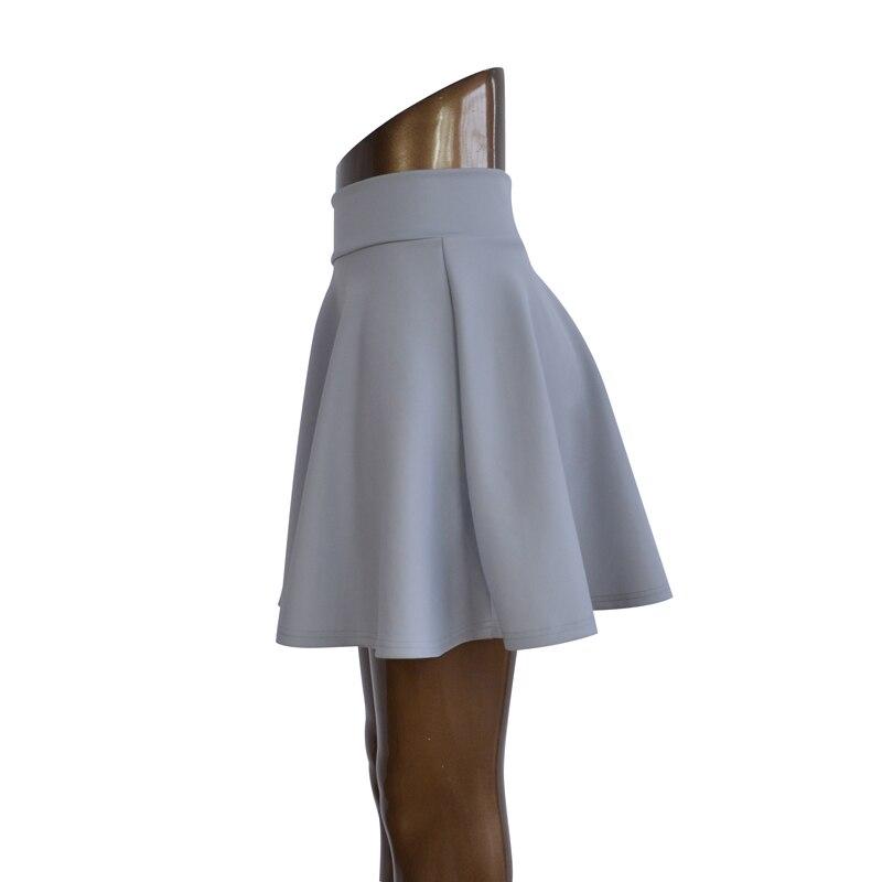 ingyenes szállítás Női Flared Skater szoknya Basic Solid Color - Női ruházat - Fénykép 4