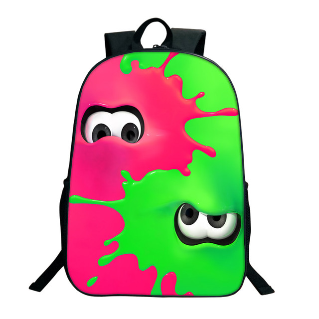 16 Inch Splatoon 2 Backpacks For Teenagers Casual Men Women's Travel Shoulder Bags Splatoon Bags For Children Kids Birthday Gift 3
