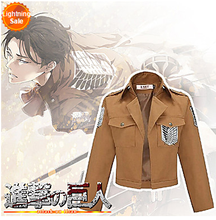 Attack on Titan Shingeki No Kyojin Eren Jager Scouting Corps Cosplay Jacket