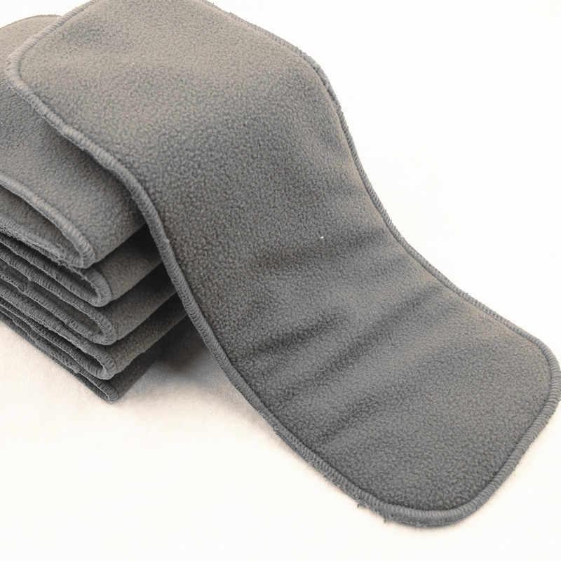 Моющиеся подгузники для взрослых 5 слоев бамбуковая угольная Ткань подгузник супер абсорбирующий многоразовый подгузник для взрослых вставка