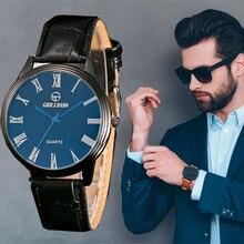 Relojes 2018 Watch Men Fashion Business Quartz Clock Mens Luxury Brand Roman Scale Waterproof Wristwatch Relogio Masculino