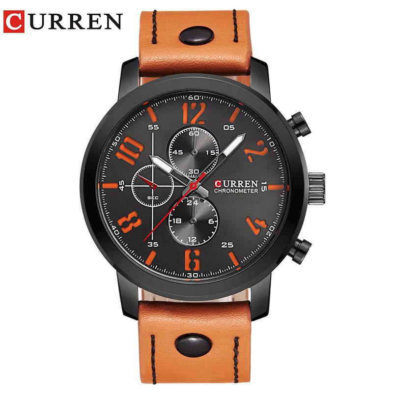 CURREN Luxury Casual Men Watches Analog Military Sports Watch Quartz Male Wristwatches Relogio Masculino Montre Homme 8192