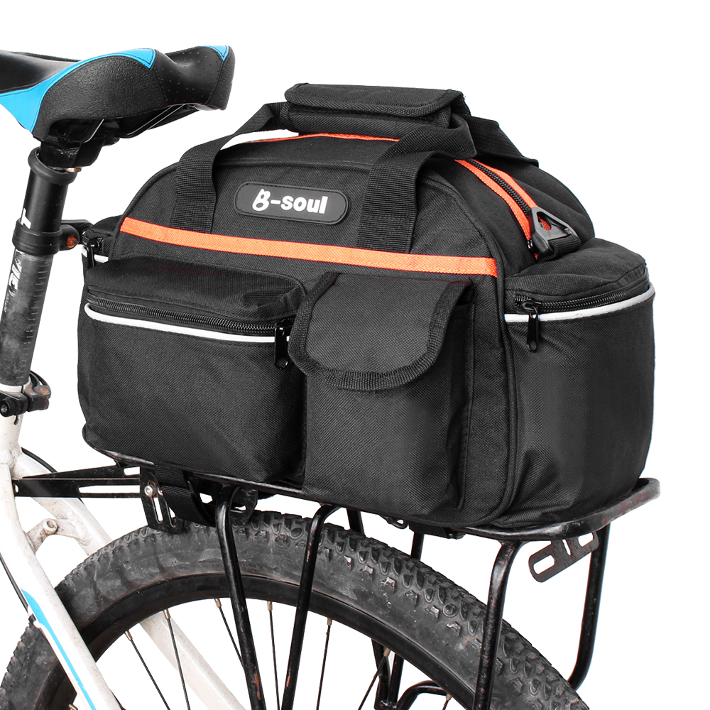 Bike Cycling Bicycle Mountain Rear Seat Pannier Rack Bag Travel Canvas