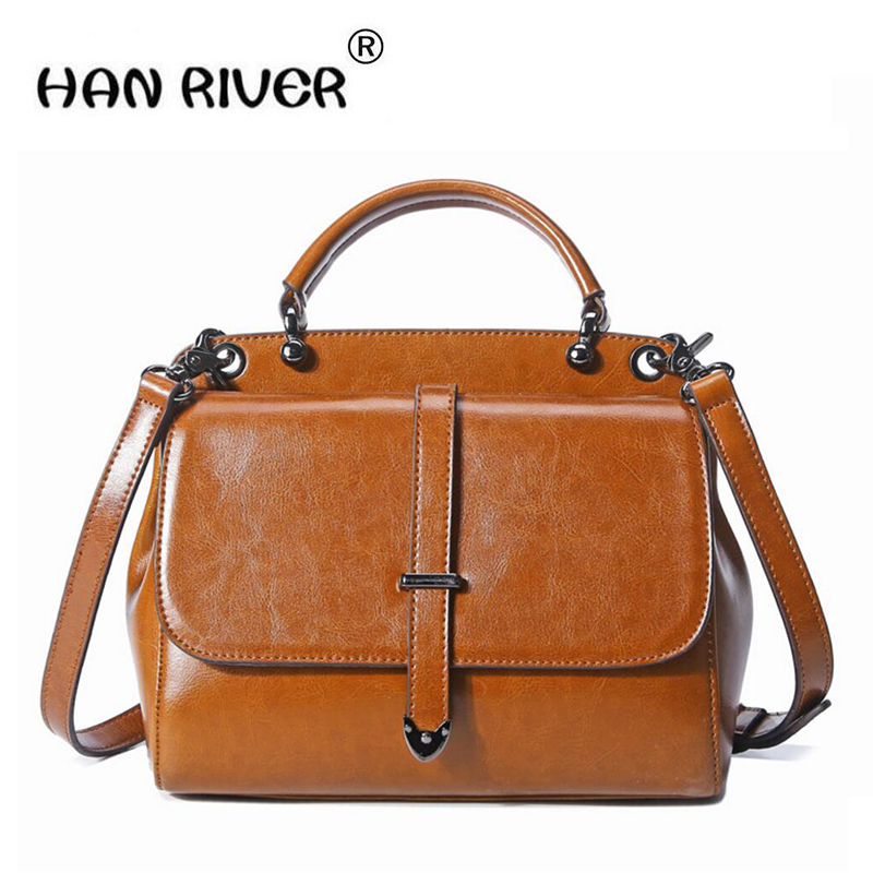 HANRIVER2018  new south Korean leather ladies handbag with a single shoulder and double-colored cow leather bagHANRIVER2018  new south Korean leather ladies handbag with a single shoulder and double-colored cow leather bag