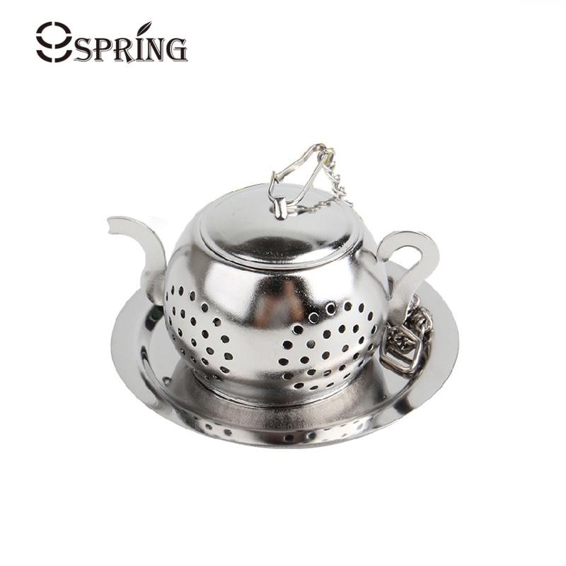 Cute Mini Tea Infuser უჟანგავი ფოლადის ჩაის გამრეცხი ფილტრი ერთჯერადი ჩაიდანი ფორმის ჩაის ბურთი ფხვიერი ფოთოლი ჩაის ჩანთა ჩაის აქსესუარები