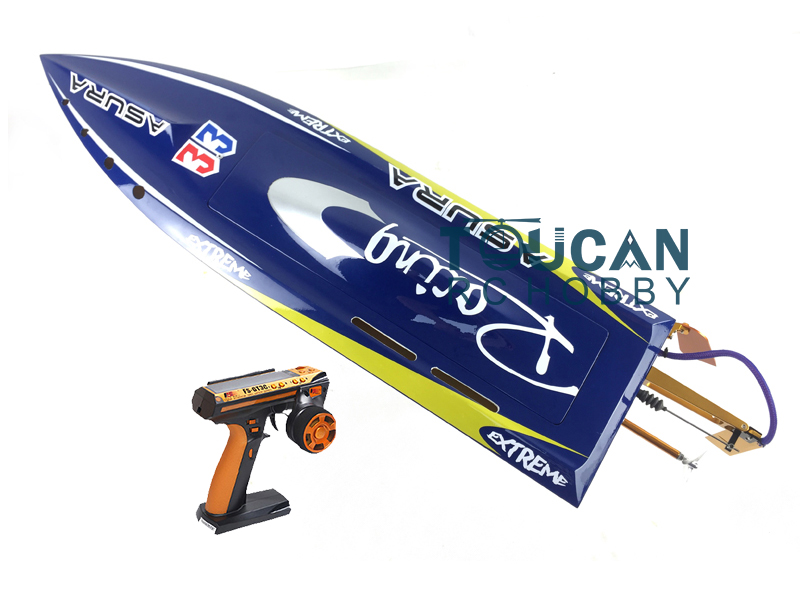 H750 RTR Shark Fiber Glass Electric RC Boat 1750kv Brushless Motor/120A ESC/ Servo/Radio System/Prevent Capsize Function Blue e36 pnp sword fiber glass racing speed rc boat w 1750kv brushless motor 120a esc servo boat red