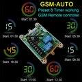 Envío gratis Sistema de Control Remoto GSM-AUTO GSM (Doble Inalámbrico interruptor de Control de salida de Relé)