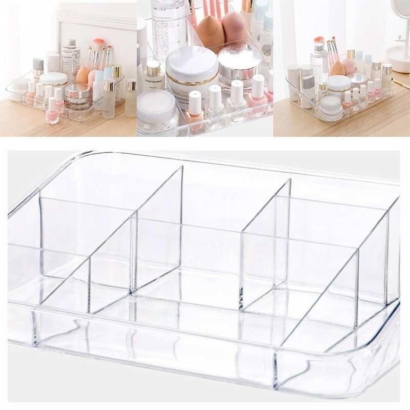 1pcs Clear Make Up Storage Box Cosmetic Perfume Jewelry Organizer Holder Case|Storage Boxes & Bins| |  - title=