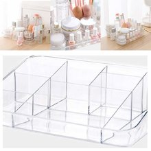 1pcs Clear Make Up Storage Box Cosmetic Perfume Jewelry Organizer Holder Case(China)