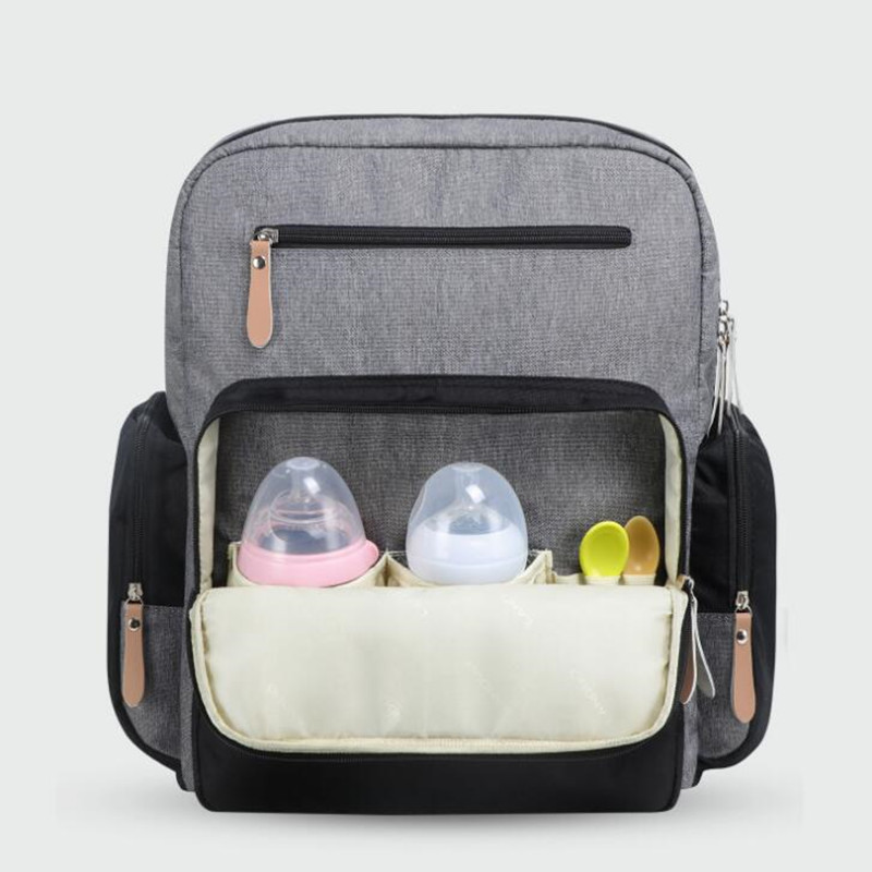 HTB1eHXPOVzqK1RjSZFvq6AB7VXaF Authentic LAND Mommy Diaper Bags Mother Large Capacity Travel Nappy Backpacks with anti-loss zipper Baby Nursing Bags NEW