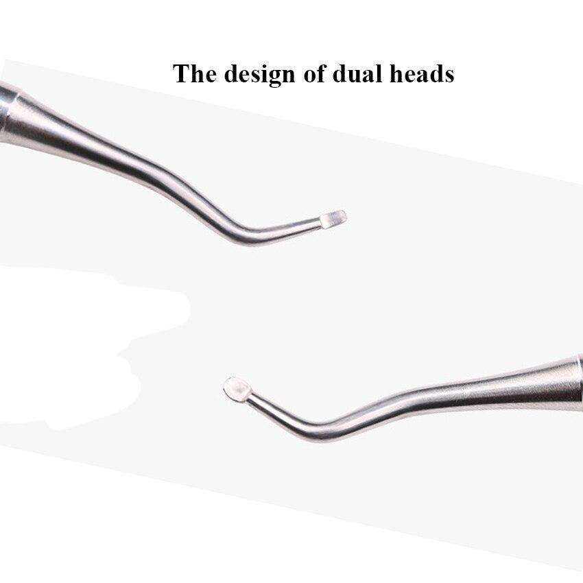 Очиститель для ногтей из нержавеющей стали ноготь пальца ноги для удаления грязи толкатель для маникюра и ухода за ногтями Аксессуары для инструментов