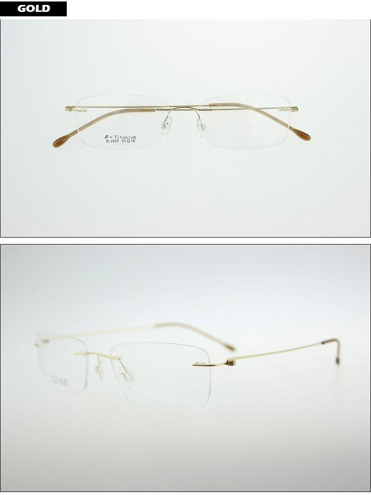 e4e9d9426c Ultralight Titanium Rimless Glasses Frame Myopia Frame Good Look and Comfort  Glasses Frames. Black Frame Coffee Frame Gold Frame ...
