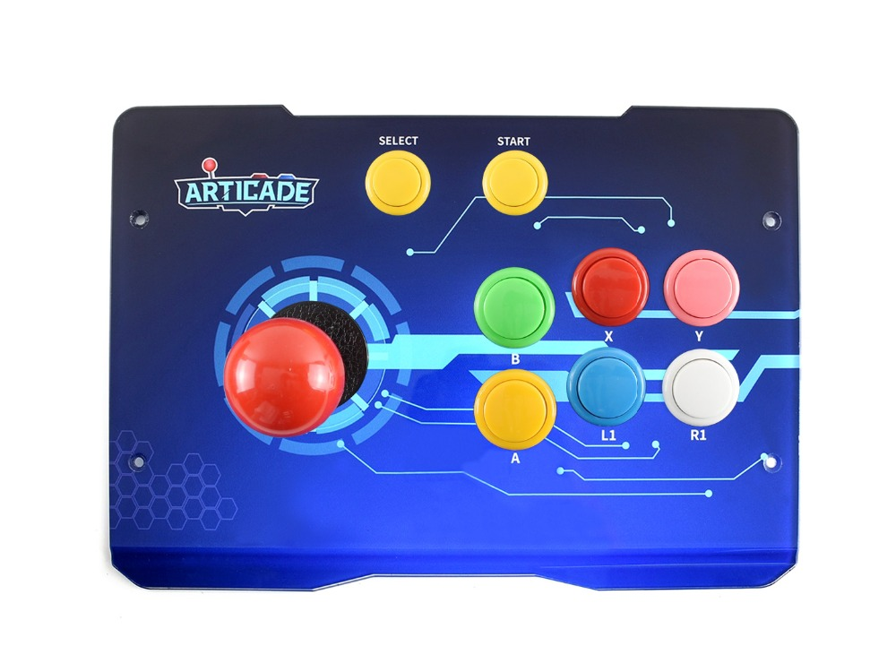 Waveshare Arcade D 1P USB Arcade Control Box for Raspberry Pi/PC/Notebook/OTG Android Phone/Tablet/Smart TV 1 Player-in Demo Board from Computer & Office