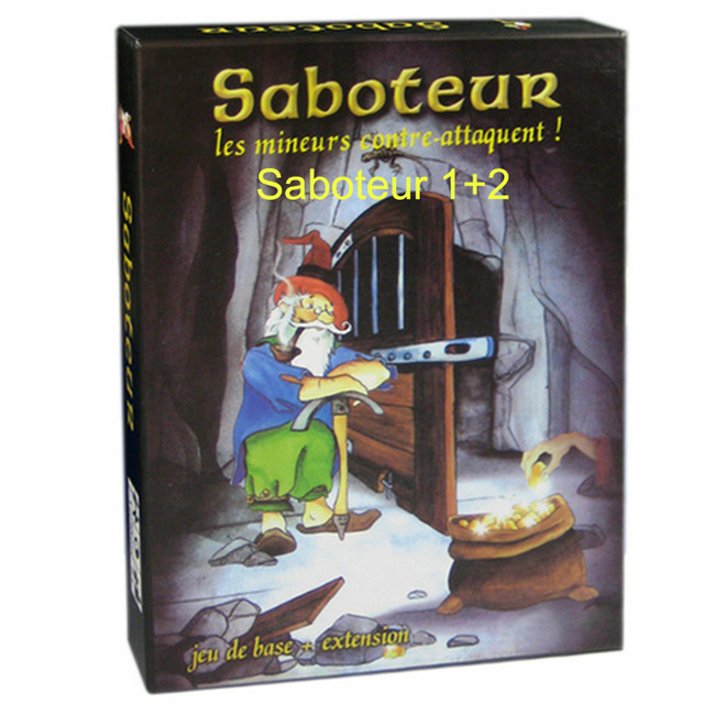 Family Board Game Saboteur Board Game 1+2 Version/Saboteur1 Version Jeu De Funny Board Game With English Instructions