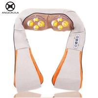 U Shape Car Home Neck Massager Electrical Shiatsu Shoulder Back Body Massagers Infrared 3D Kneading Massagem