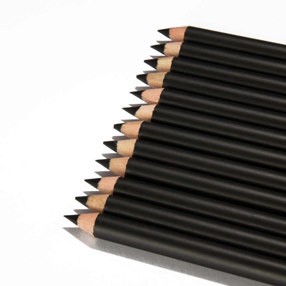 12 sztuk/zestaw Menow P127 czarne oko kredka wodoodporny brwi długopis kosmetyczny oko kredka wszystkie czarne