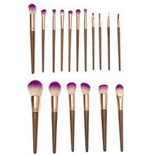 Professional 17pcs/Set Natural Wood Handle Makeup Brushes Kit with Case Cosmetic Tool Collection
