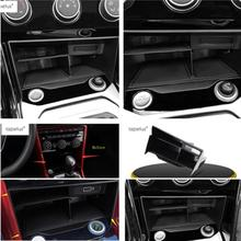 Lapetus Accessories For Volkswagen T-Roc T Roc 2018 2019 Central Control Multifunction Container Storage Box Molding Cover Kit