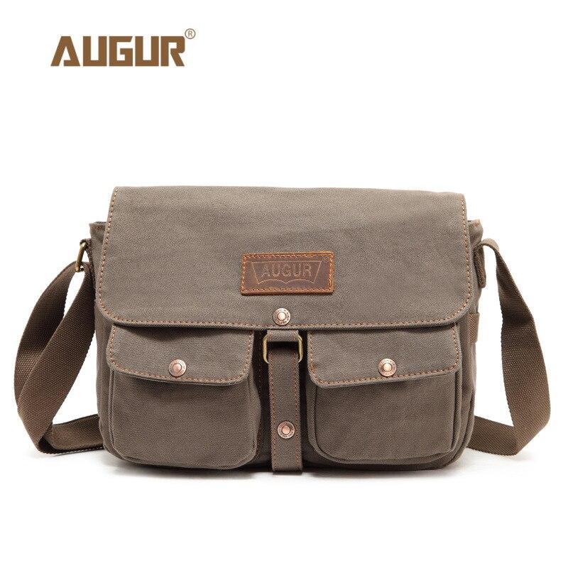 AUGUR Fashion Men Messenger Bag Luxury Brand Man Shoulder Bags for Men Canvas Bag Designer Handbags High Quality