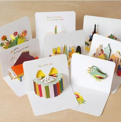 6200 1pc 105x145mm 3D Stereoscopic Greeting Card WITH ENVELOP Handmade Gift Birthday Card  Kids Gift Wish cards 30pcs in one postcard take a walk on the go dubai arab emirates christmas postcards greeting birthday message cards 10 2x14 2cm
