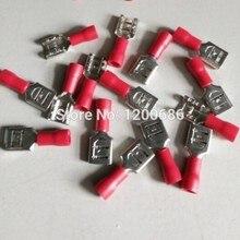 3.2 mm Spade FDD1-110 Red Female Electrical Spade Crimp Connector Terminals