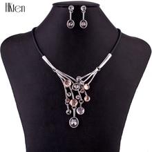 MS1504700 Conjuntos de Collar De Joyería de Las Mujeres Conjuntos de Joyería de Moda de Alta Calidad Multicolor de Cristal de Aleación de Diseño de La Borla Regalo Del Partido