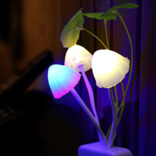 Mushroom Lamp Night Light Fantastic Light Control Induction Led Color Change Lighting Control Colorful EU Children's Night Light