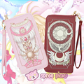 2 Colors Card Captor Sakura Magic Book Hand Bag Purse Wallet Can Pack Phone M6571