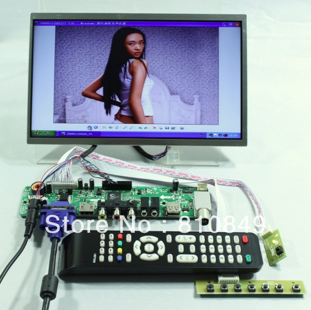 TV/HDMI/VGA/AV/USB/AUDIO LCD controller Board+10.1inch LP101WH1 1366*768 lcd N101BGE LTN101AT03 CLAA101WA01A 1366 768 10 1 led panel lp101wh1 tlp1 lp101wh1 tla3 ltn101at03 led n101bge l02 claa101wa01a for sony vpcw219jc netbook screen