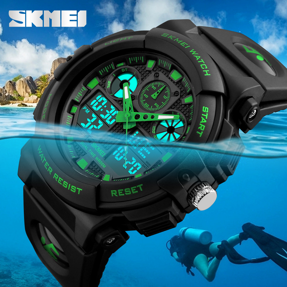 цена на SKMEI Luxury Brand Men Sports Watches Digital Led Men Wristwatches 50m Water Resistant Relogio Masculino Quartz Watch For Man