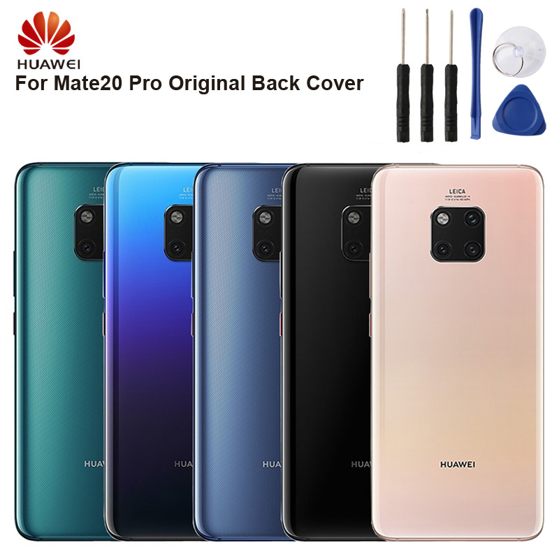 Huawei original voltar bateria capa habitação para huawei companheiro 20 pro mate20 pro bateria traseira caso de vidro