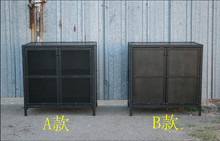 American rural retro to do the old wrought iron French lockers cabinet storage cabinets bucket cabinet bookcase Creative