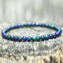 Antique Natural Stone Beads Mala Lave Bracelet 4mm Small Beaded Wooden Braclet For Men Buddha Prayer Jewelry Homme Pulseira