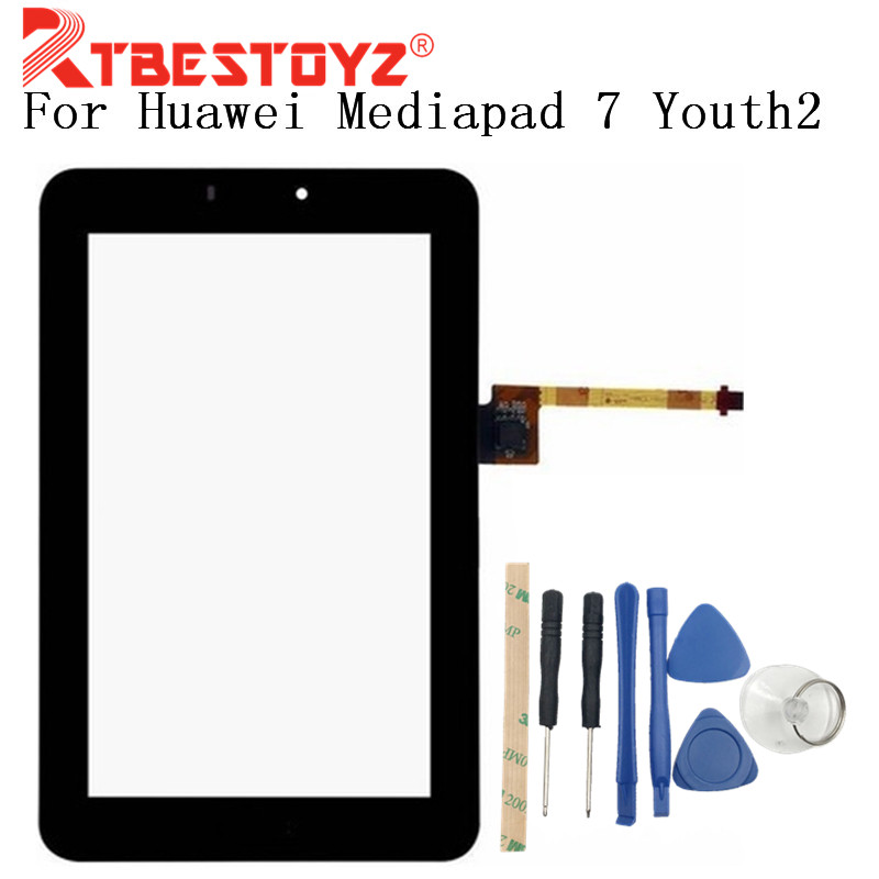 RTBESTOYZ Für <font><b>Huawei</b></font> <font><b>Mediapad</b></font> <font><b>7</b></font> Youth2 Jugend 2 S7-721U S7-721 Touchscreen Digitizer Glass Sensor Panel Tablet Ersatz image