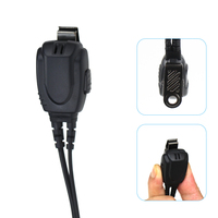talkie walkie 2 Tube הולכת אוויר פין אוזניות אפרכסת אוזניית מיקרופון עבור Talkie Walkie מידלנד אלן GXT G6 G7 G8 G9 75-810 רדיו GXT650 LXT80 (4)