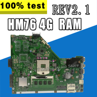 X55C Motherboard REV2.1 USB3.0 HM76 4G RAM For ASUS X55VD X55C Laptop motherboard X55C Mainboard X55C Motherboard test 100% OK