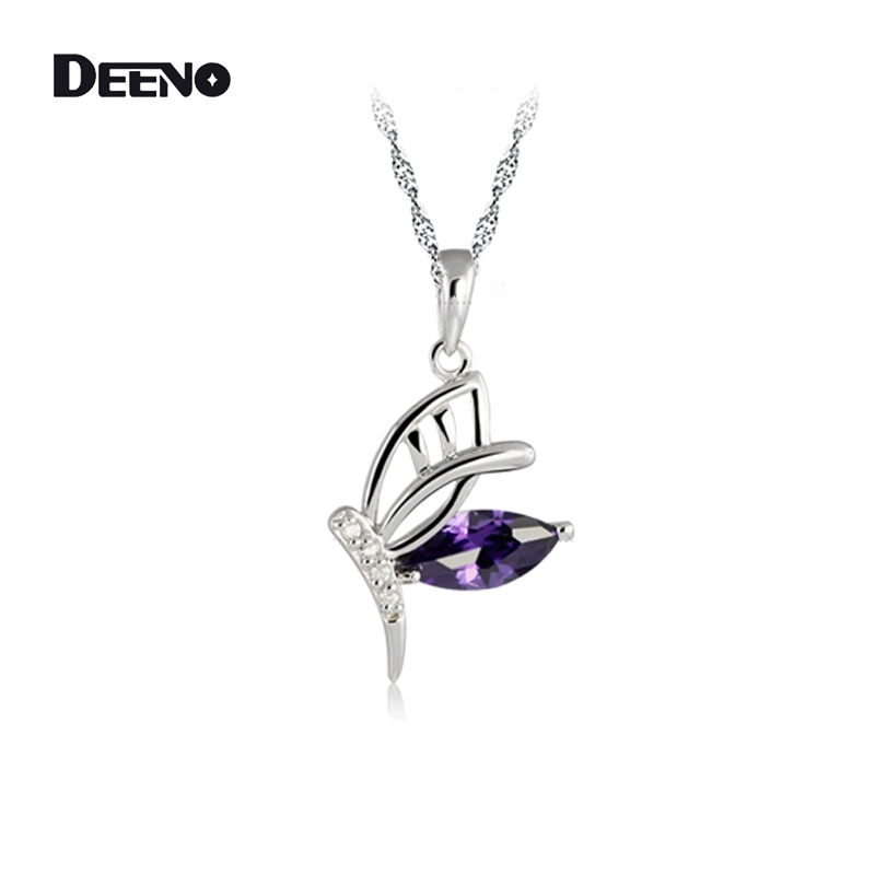 DEENO Fine Jewelry Chain Necklaces Pendants Accessories For Women Fashion Silver Friendship