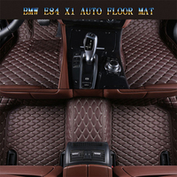 Car Floor Mats For BMW E84 X1 2009 2016 Foot Carpets pad mat Step Embroidery Leather Car Interior Mats heavy duty carpet