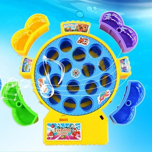 Hot electronic toy magnetic fishing toy fishing game for Electronic fishing game