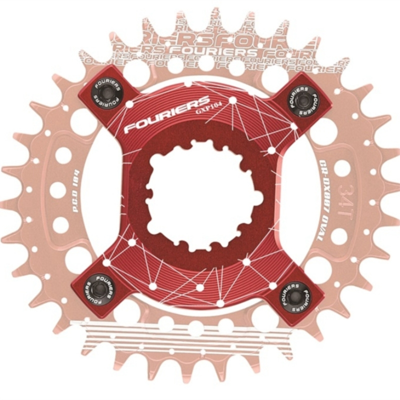 Fouriers ADP-GXP104 CNC bike bicycle Chain Ring Spider Adapter For P.C.D 104 Chainrings XX1 X0 X9 GXP Cranks Come with screws.