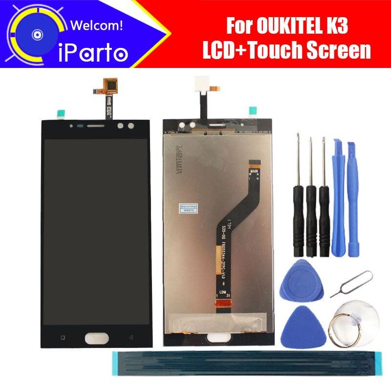 5.5 polegada Oukitel K3 LCD Display + Touch Screen Digitador Assembléia 100% Original Novo LCD + Digitador Touch para Oukitel K3 + Ferramentas